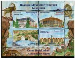 Tajikistan.2018 Gorno Badakhshan Region (Buildings,Fauna). S/S Of 4v: 2x4.20, 2x5.80 - Tadjikistan