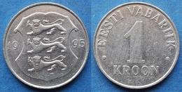 ESTONIA - 1 Kroon 1995 KM# 28 Kroon Coinage (1991- 2010) - Edelweiss Coins - Estonia