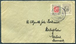 1914 Iceland Seydisfjodur Cover - Denmark. 6 Aur Grey, Wtm. Cross Perf. 14 + 4 Aur - Covers & Documents