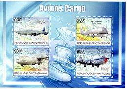 Republique Centrafricaine -  Avions Cargo  - Boeing 747-Super Guppy-Hercules-Globemaster  -  4v MS Neuf/Mint - Avions