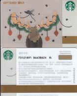 Starbucks 2018 China Elk Gift Card RMB100 - China