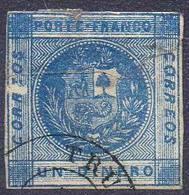 AMÉRIQUE LATINE ! Timbre Ancien Du PÉROU De 1859 N°4 - Pérou