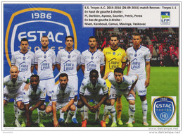 FOOTBALL CP  DE  EQUIPE  DE ESTAC  TROYES 2015/16 - Voetbal