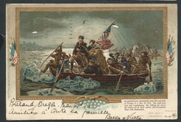 "+++ CPA - Private Mailing Card - Amérique - Oregon - Cachet PORTLAND - "" Washington Crossing The Delaware "" // - Portland"