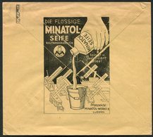 1932 Switzerland Schweizerwoche Luzern Slogan Cover. Minatolwerke A.G. / MINATOL ILLUSTRATED ADVERTISING COVER - Switzerland