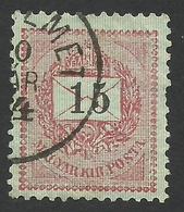 Hungary, 15 K. 1888, Sc # 29, Mi # 34B, Used. - Gebraucht