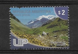 ARGENTINA 2008, MOUNT ACONCAGUA IN MENDOZA, MOUNTAINS, LANDSCAPES, UP 1 VALUE - Unused Stamps
