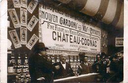 Cpa Carte Photo Stand CHATEAU COGNAC Moret & Gaillard, Vieux Cognacs Des Charentes - - Fairs