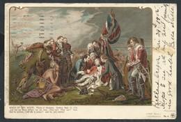 """+++ CPA - Private Mailing Card - Amérique - Oregon - Cachet PORTLAND - """"Death Of Gen. WOLFE """"  // - Portland"""