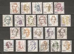 Allemagne - Femmes Célèbres - Petit Lot De 30 Timbres Oblitérés Différents Avec CACHETS RONDS (sauf 2) - 2 Scans - Vrac (max 999 Timbres)