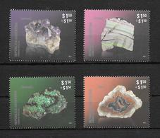 STONES AND MINERALS ARGENTINA AÑO 2012 COMPLETE SET MNH MALAQUITA AMATISTA FLUORITA AGATA YVER TELLIER NRS.2956 - 2959 - Mineralen