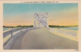 Florida Panama City East Bay Bridge At Sunset - Panama City