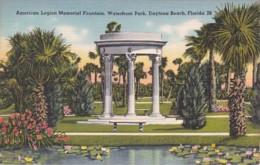 Florida Daytona Beach American Legion Memorial Fountain Waterfront Park - Daytona