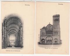 VEZELAY 2 Cartes Avant 1904 Non Circulées Cathédrale - Vezelay