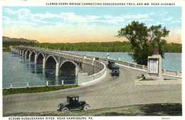 CLARKS FERRY BRIDGE CONNECTING  SUSQUEHANNA TRAIL AND WM PENN HIGHWAY  ACCROSS SUSQUEHANNA RIVER NEAR HARRISBURG PA - Harrisburg