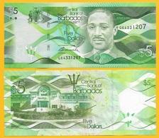 Barbados 5 Dollars P-74 2017 UNC - Barbades
