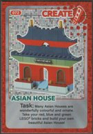 Lego Trading Card - Create The World - 072 Asian House - Trading Cards