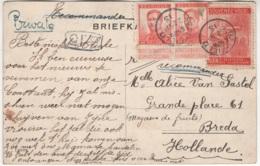 Belle Carte Envoyée En Recommandé Vers La Hollande. Cachet Spécial Dapfield 22 SP 15. 6 45 PM + Griffe B15 - Marcofilia