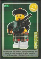 Lego Trading Card - Create The World - 075 Bagpiper - Trading Cards