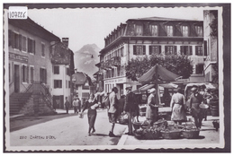 DISTRICT DU PAYS D'ENHAUT - CHATEAU D'OEX - JOUR DE MARCHE - TB - VD Vaud