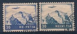 """HELVETIA - Mi Nr 387 & 506 - Gest./obl."""" - Cote 16,50 € - Poste Aérienne"""