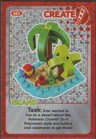 Lego Trading Card - Create The World - 083 Island - Trading Cards