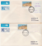 Postal History Cover: RSA 4 R Covers With Automat Stamps - Frama Labels
