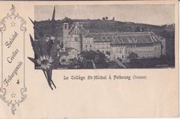 FRIBOURG LE COLLEGE SAINT MICHEL SUISSE MULTIVUES DATÉE 1899 Bon état - FR Fribourg