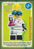 Lego Trading Card - Create The World - 084 Crazy Scientist - Trading Cards
