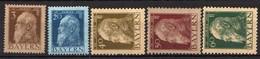 Bayern 1911 Mi 79 II; 82 II; 84 II *; 76 II; 83 II (*) [011218IX] - Bavaria