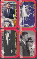 KENNEDY PRESIDENT-   4 Cards Rare! - Personnages