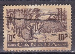Canada, 1950 - 10c Indian Drying Skins On Stretches - Nr.301 Usato° - Usati