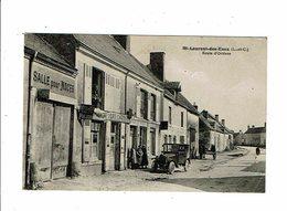 Cpa SAINT LAURENT DES EAUX Route D'Orléans Hotel PAJON Bière Fort Carré épicerie Femmes à La Pose Automobile Lenormand - Autres Communes