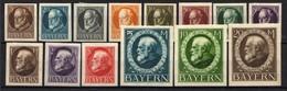 Bayern 1920 Mi 94; 97-109 II B * [011218IX] - Bavaria