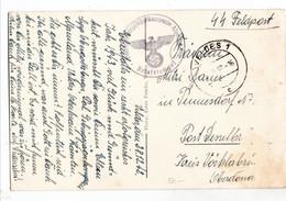 """VELDES, Stempel """" Polizei - Gebirgsjägerkompanie Alpenland """" SS - Feldpost - Guerre 1939-45"""