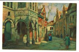 CPA - Cartes Postales BELGIQUE - Bruxelles-Tableau Du Peintre Van De Lane Une Rue Du Vieux Bruxelles- S3710 - Lanen, Boulevards