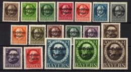 Bayern 1919 Mi 116-133 II A * (Mi 126-127, Gestempelt) [011218IX] - Bavaria