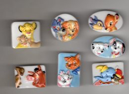 Série 7/9 Fèves Plates Brillantes ANIMAL FRIENDS Disney 2007 - Disney