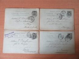 123 Entiers Postaux Type Sage 10c Adressés à Mme Veuve Doerflinger Fabrique De Chaussures Nancy - à étudier - 1898/1900 - Collections
