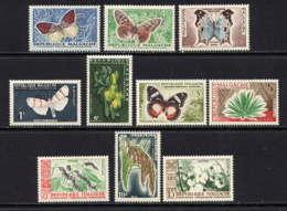 MADAGASCAR - 341/350** - PAPILLONS ET CULTURE - Madagascar (1960-...)