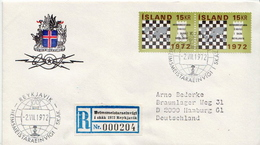 Postal History Cover: Iceland Registered Cover From Chess Championship From 1972 - Chess