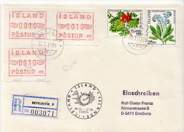 Postal History Cover: Iceland Cover With Automat Stamps - Vignettes D'affranchissement (Frama)