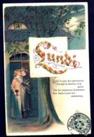 RARE SÉRIE COMPLETE 7 CPA GAUFRÉES- FRANCE- LES JOURS DE LA SEMAINE EN 1900- BELLES ILLUSTRATIONS- COSTUMES - Künstlerkarten