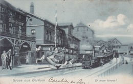 Borkum Bahnhof Humor 1905 - Borkum