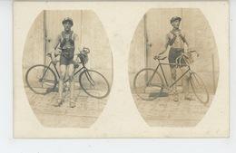 SPORTS - CYCLISME - Belle Carte Photo Cycliste Posant Avec Son Vélo De Course (non Située ) - Cycling