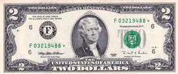 "USA 2 DOLLARS 1995 STAR ✩ Atlanta NOTE UNC ""free Shipping Via Registered Air Mail"" - Billets De La Federal Reserve (1928-...)"