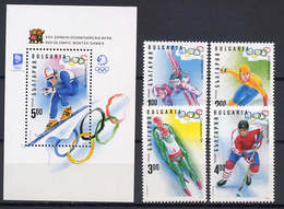 Bulgaria 1994 Olympic Games Lillehammer Set Of 4 + S/s MNH - Winter 1994: Lillehammer