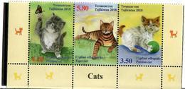 Tajikistan.2018 Cats(butterflies). Strip Of 3v: 3.50, 4.20, 5.80 - Tadjikistan