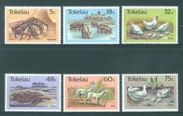 TOKELAU - MNH/** - 1986  - CRAB PORK HEN TURTLE GOAT DUCK - Yv 137-142 -  Lot 18378 - Tokelau
