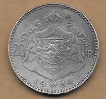 20 Francs Argent 1934  FL Pos A - 1909-1934: Albert I